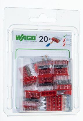 Szybkozłączka 4x 0,5-2,5mm2 transparentna/czerwona 2273-204 /blister 20szt/ 2273-204/0996-0020/VE00-0100