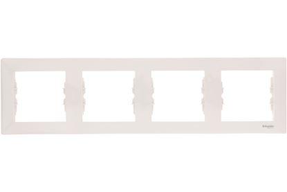 Sedna Ramka poczwórna kremowa pozioma SDN5800723