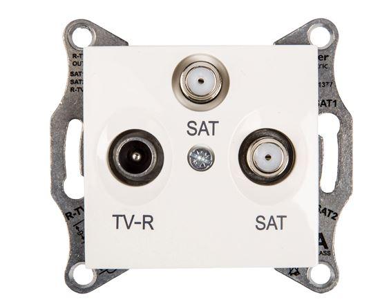 Sedna Gniazdo antenowe TV/SAT/SAT końcowe kremowe SDN3502123