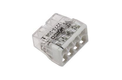 Szybkozłączka 8x 0,5-2,5mm2 transparentna/jasnoszara 2273-208 /50szt./
