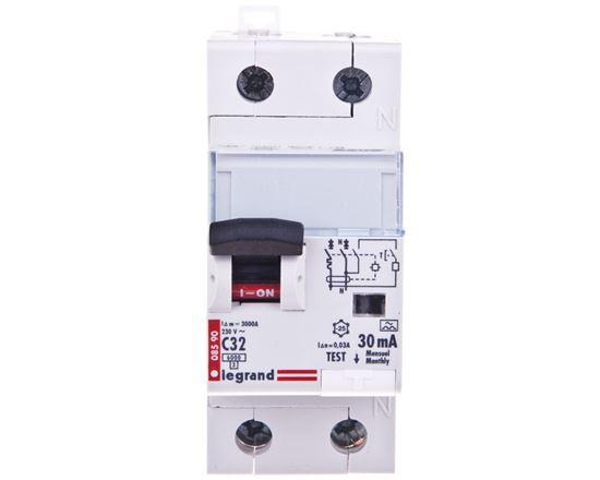 Wyłącznik różnicowo-nadprądowy 2P 32A C 0,03A typ A P312 DX3 411064
