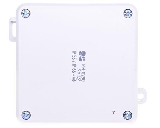 Puszka n/t hermetyczna pusta 98x98x46mm IP55/IP65 szara 2K 0290-04