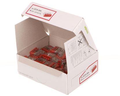 Szybkozłączka 4x 0,5-2,5mm2 transparentna/czerwona 2273-204 /100szt./