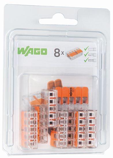 Szybkozłączka 5x0,2-4mm2 transparentna / pomarańczowa 221-415 /blister 8szt/ 0221-0415/0996-0008