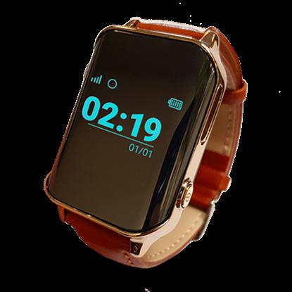 Locon Zegarek GPS Bezpieczna Rodzina dla seniora z pulsometrem BS.01 Brązowy