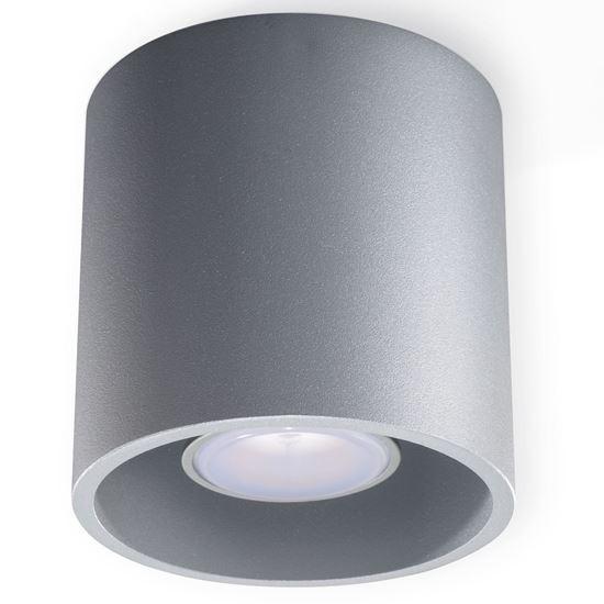 Lampa Plafon ORBIS 1 Szary