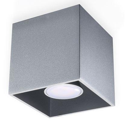 Lampa Plafon QUAD 1 Szary