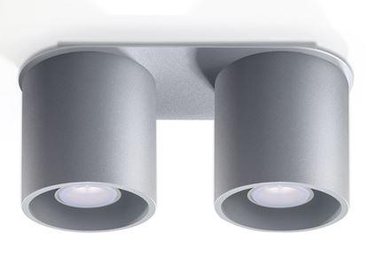 Lampa Plafon ORBIS 2 Szary