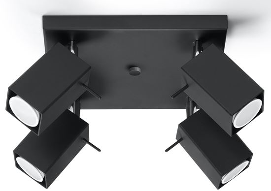 Plafon MERIDA 4 Czarny