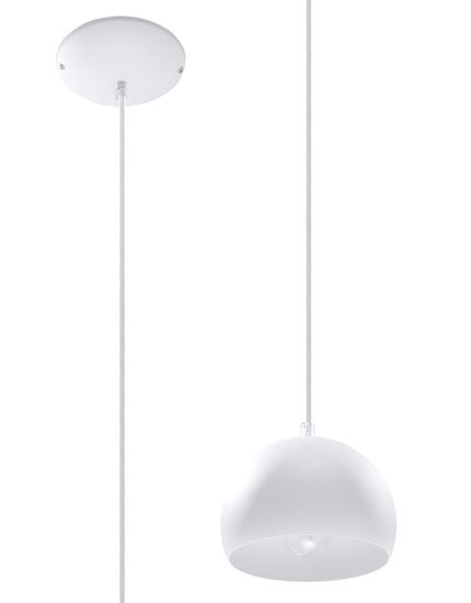 Lampa Wisząca BOLA 1 Biała