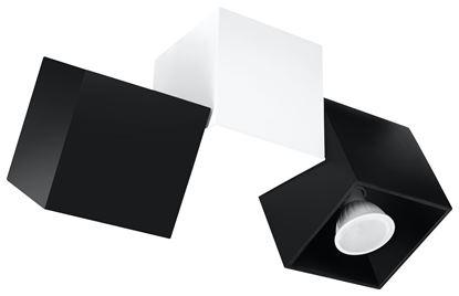 Plafon OPTIK NERO 3 Czarny/Biały