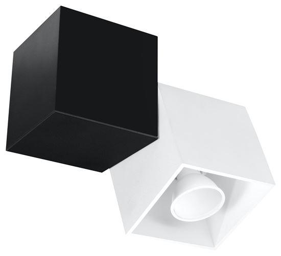 Plafon OPTIK BIANCO 2 Czarny/Biały