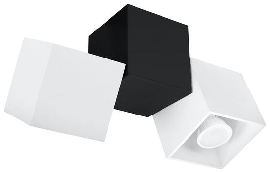 Plafon OPTIK BIANCO 3 Biały/Czarny