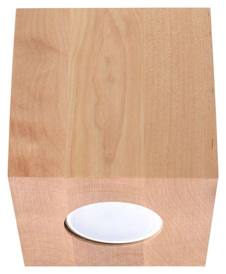 Plafon QUAD Naturalne Drewno