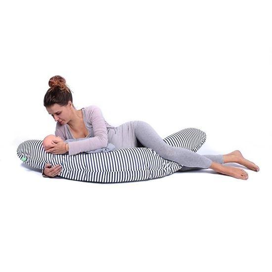 Lulando Bomerang poduszka do karmienia i spania, Paski Granatowe, 200x39 cm
