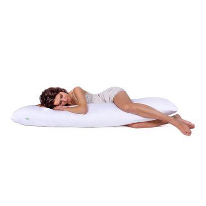 Lulando Poduszka do spania na boku, bawełna, biała, 145x40 cm