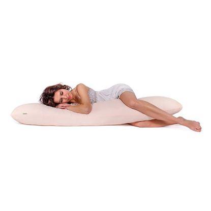 Lulando Poduszka do spania na boku ecru mickrofibra, 120x40 cm