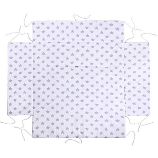 Lulando Mata do kojca, Gwiazdki szare na białym tle, 75x100 cm