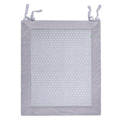 Lulando PLAY-MAT wodoodporna mata do zabawy, Gwiazdki białe na szarym tle, 150x200 cm
