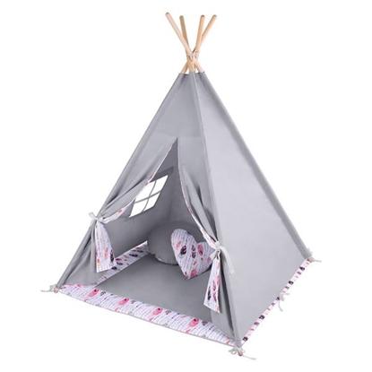 LULANDO TIPI namiot do zabawy dla dzieci, szary / Piórka