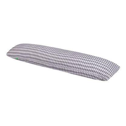 Lulando Poduszka do spania na boku, bawełna, biało - szare romby, 145x40 cm