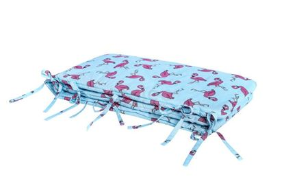 Lulando Ochraniacz, Flamingi Niebieskie, 30x190 na łóżeczko 140x70