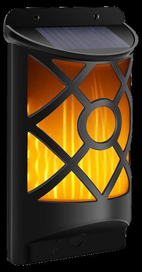 POWERplus Kiwi - solarna latarnia ścienna z efektem płomienia