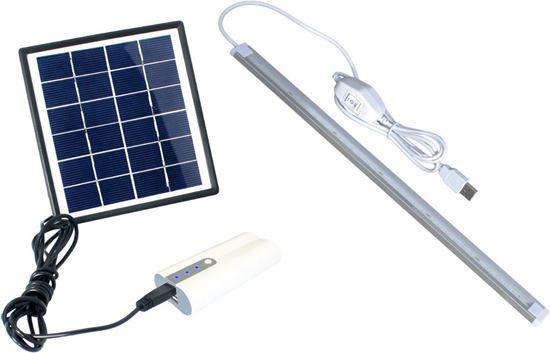 POWERplus Dove - zestaw zasilania solarnego 2W z powerbankiem i lampą 36LED