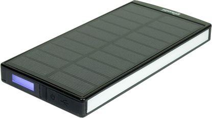 POWERplus Sephia - solarny powerbank 9000 mAh z lampą LED