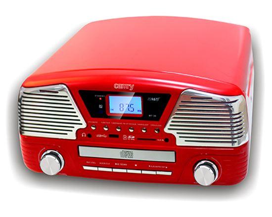 Gramofon z CD/MP3/USB/SD/nagrywaniem CR 1134 r