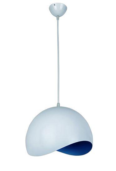 Lampa wisząca Bella 1 niebieska