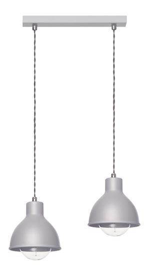 Lampa wisząca Zoe 2L popiel