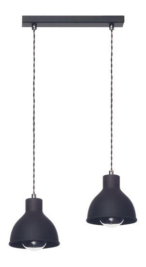 Lampa wisząca Zoe 2L czarna
