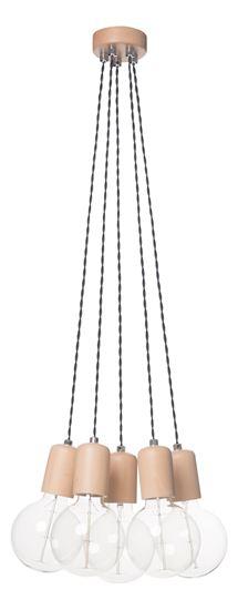 Lampa wisząca Woody 5 olcha