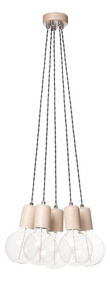 Lampa wisząca Woody 5 sonoma
