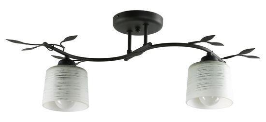 Lampa sufitowa Viola 2A czarna