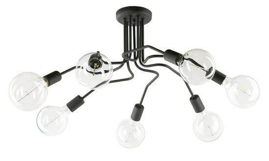 Lampa sufitowa Sebastiano 7 czarna