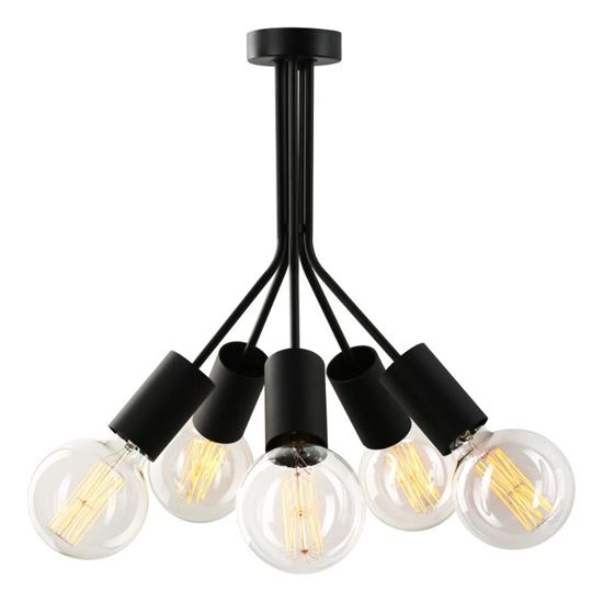 Lampa sufitowa Jaro 5 czarna