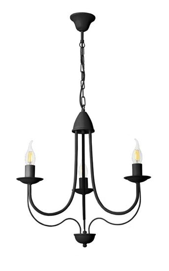 Żyrandol Candle 3 czarny