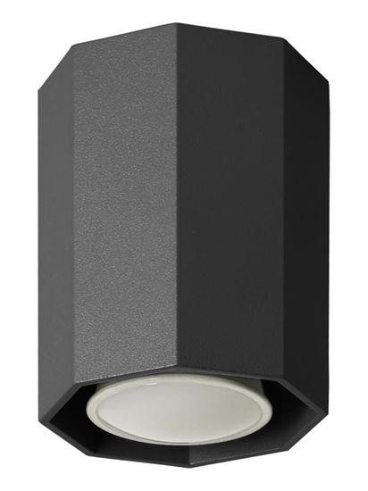 Lampa sufitowa Okta 10 czarna