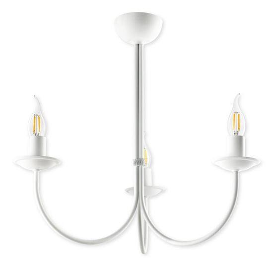 Lampa sufitowa Samanta 3 biała