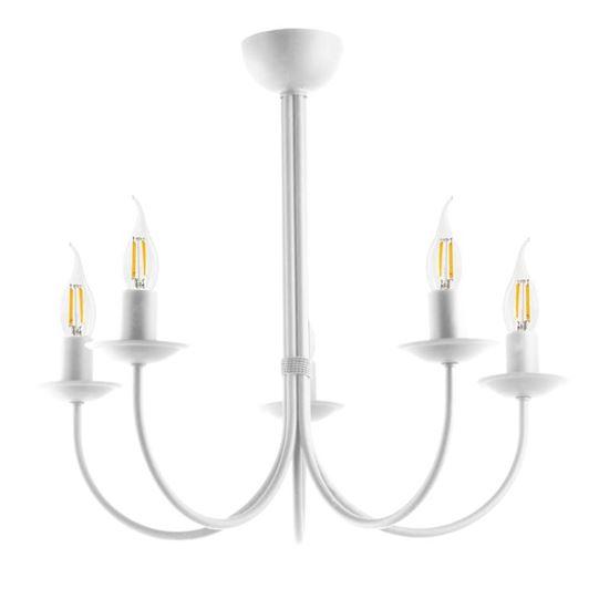 Lampa sufitowa Samanta 5 biała