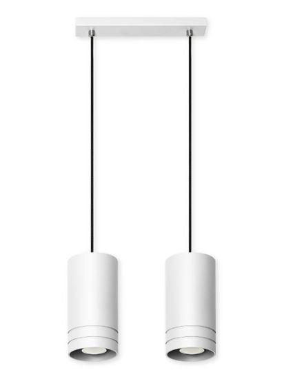 Lampa wisząca Simon 2L biała