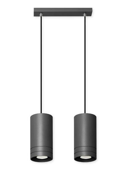 Lampa wisząca Simon 2L czarna