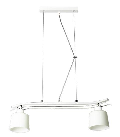 Lampa wisząca Olimp 2 biała