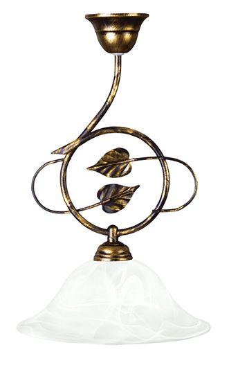 Lampa wisząca czarny + złoto