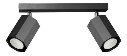 Plafon Hex 2 czarny