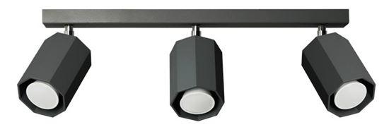 Plafon Hex 3 czarny