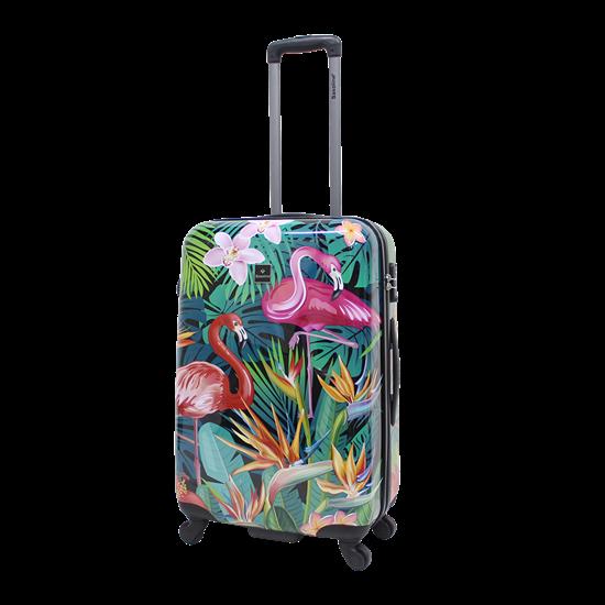 Walizka średnia SAXOLINE Exotic Flamingo M