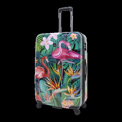Walizka duża SAXOLINE Exotic Flamingo L